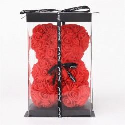 Мече от рози - Червено 25cm